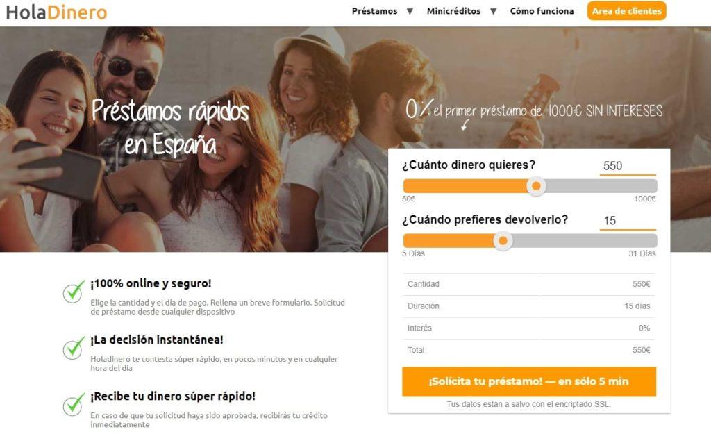 Holadinero funciona a través de internet.