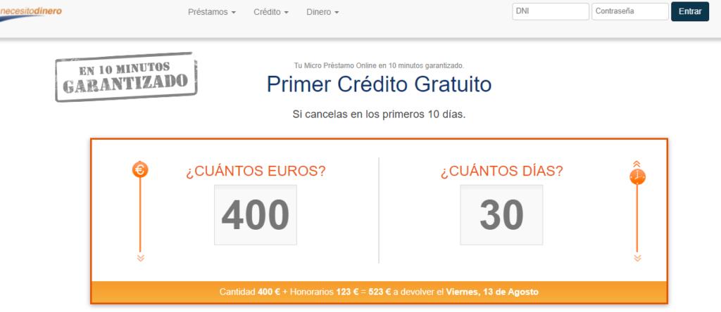Los microcréditos de NecesitoDinero se solicitan vía online