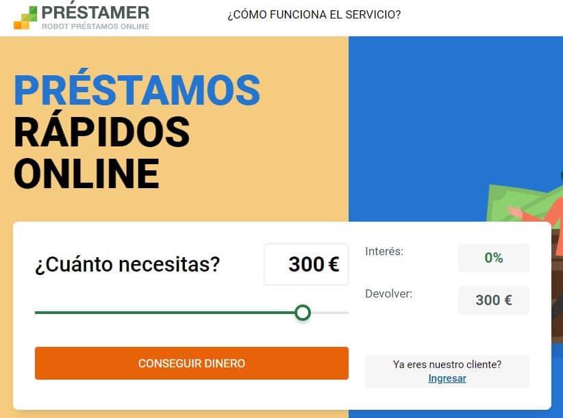 Desde la página principal de Préstamer puedes calcular el interés y el plazo para devolver tu mini préstamo