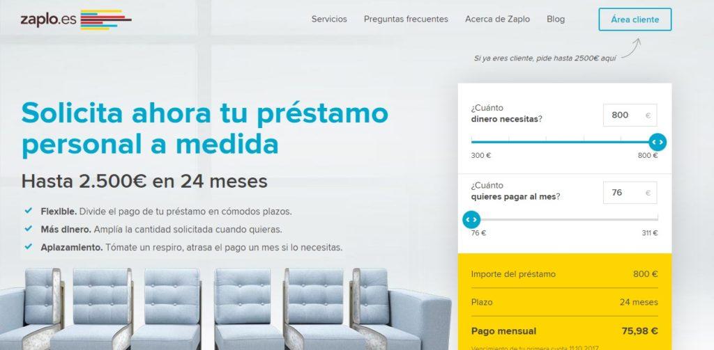 Zaplo ofrece créditos rápidos y fáciles de adquirir.