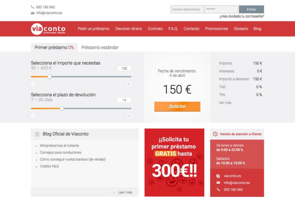 El primer microcrédito de ViaConto es de hasta 300€