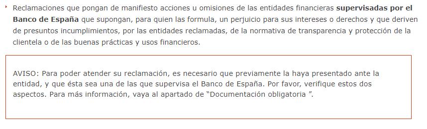 El Banco de España recomienda hacer una comunicación formal con el banco antes de empezar un proceso de reclamación.