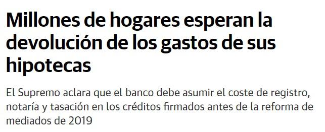Usuarios de Bankia y otras entidades esperan la devolución de los gastos de formalización de hipotecas pagados indebidamente.
