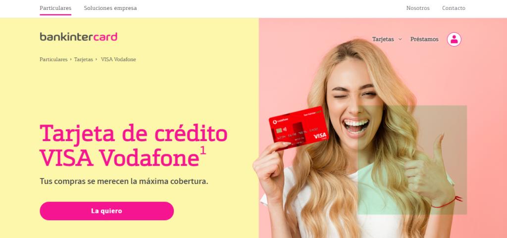 La tarjeta de crédito Visa Vodafone es operada por Bankinter.