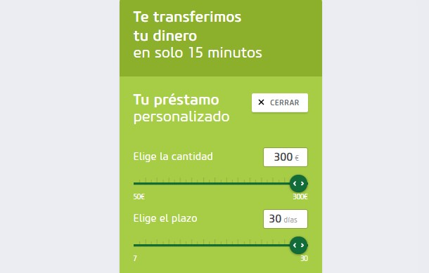 Calculador de préstamo Vivus