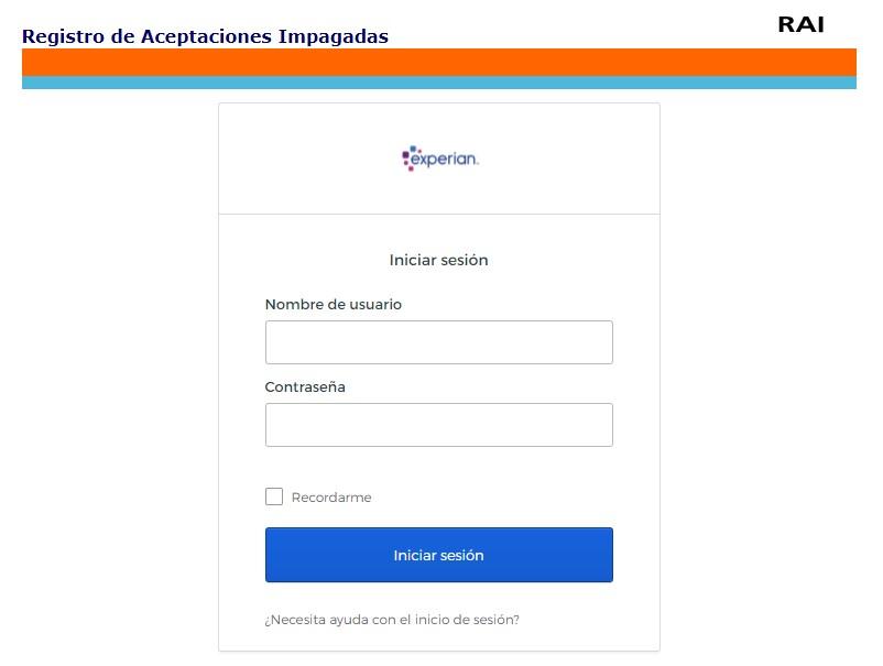 Portal de acceso a usuarios RAI